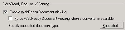 Enable WebReady Document Viewing