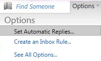 OWA 2010 Automatic Replies