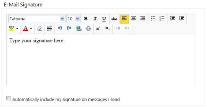 Creating an email signature in OWA